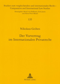 Vorvertrag Internationales Privatrecht
